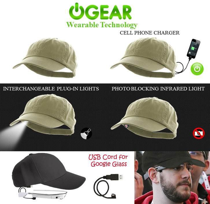 Power Gear Hat: Wearable Google Glass Charger