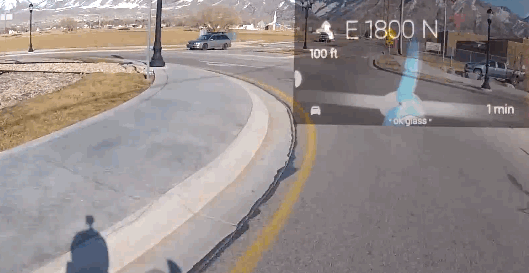 Wearing Google Glass While Riding a Bike