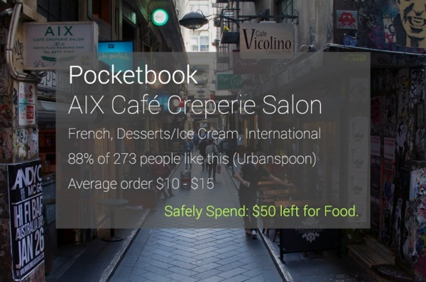 Pocketbook for Google Glass: Manage Your Money