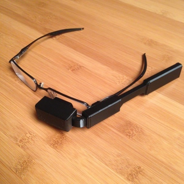 3D-printed Google Glass with a Raspberry Pi