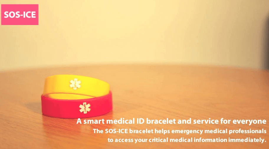 SOS-ICE NFC Wristband for Emergencies