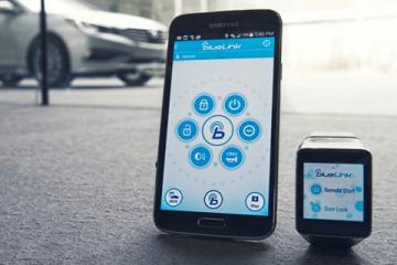 HYUNDAI Blue Link Smartwatch App Looked