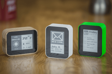 DISPLIO WiFi-Enabled E-ink Device Shows FitBit Stats