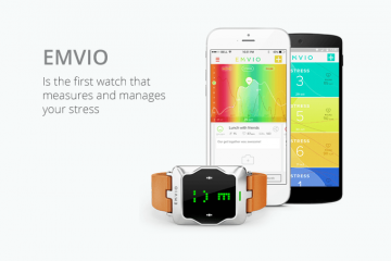Emvio Smartwatch: Monitors Stress Level, Heart Rate, Activity