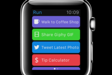 Workflow for Apple Watch