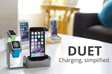 Duet: Apple Watch & iPhone Charging Dock