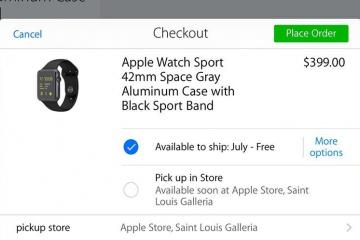 Apple Watch to Get In-Store Pickup Option?
