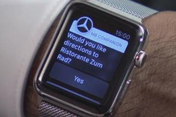 Mercedes-Benz's Apple Watch App for Directions, Info