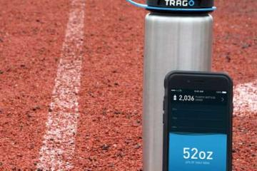 Trago Smart Water Bottle Works with Wearables