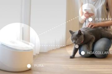 Pura Smart Water Fountain for Cats w/ Collar ID