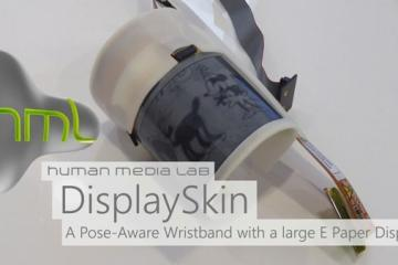 DisplaySkin: Wearable w/ Pose-aware Flexible Display