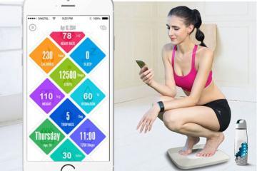 OAXIS Wellness Tools: Scale, Wearable, Bottle