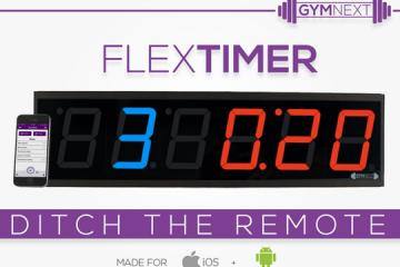 Flex Timer: Bluetooth Interval Training Wall Clock w/ Smartwatch Support