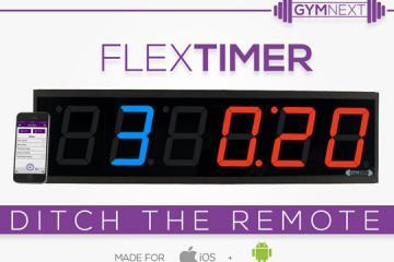 Flex Timer: Bluetooth Interval Training Wall Clock w/ Smartwatch Support