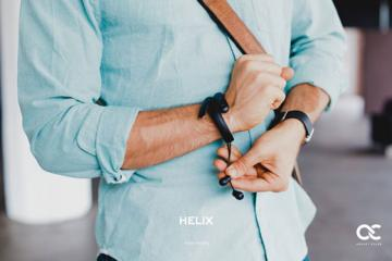 HELIX: Wearable Cuff + Bluetooth Headphones
