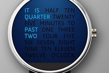 Wordy Watch Face for Android Wear