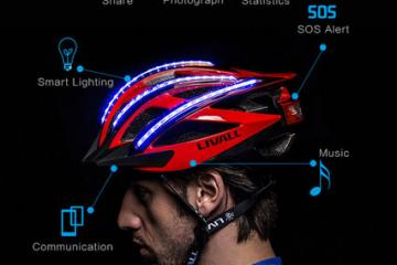 LIVALL Bling: Smart Cycling Helmet w/ Bluetooth & Safety Features