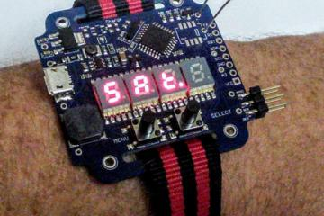 Supercapacitor Arduino LED Wrist Watch