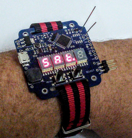 Supercapacitor Arduino LED Wrist Watch - Cool Wearable