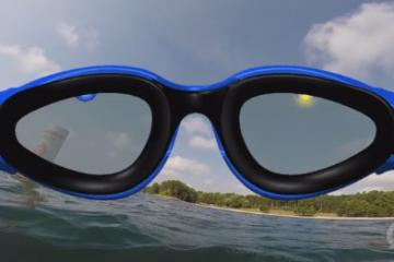 OnCourse Goggles Guide You In Open Water
