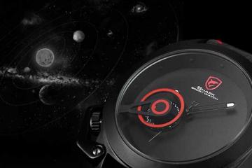 Tawny Shark Sport Watch Inspired by Solar System