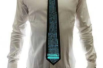 WDCS EL Sound Activated Neckties
