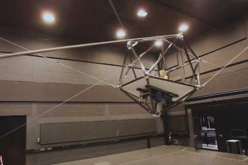 CableRobot Virtual Reality Cage w/ Programmable Trajectories