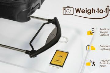 Weigh-to-Fly: Smart Luggage Scale w/ Apple Watch Support