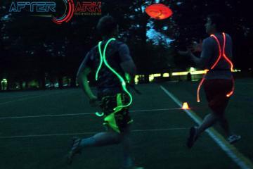 AfterDark Flag Football Kit w/ Fiber Optic Jerseys and LED Ball