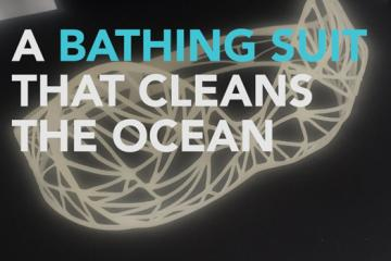 This Bathing Suit Cleans the Ocean Using a Sponge Material