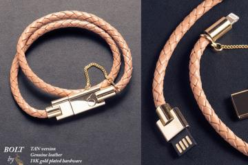 BOLT Bracelet: Elegant Wearable Charger for iOS Devices