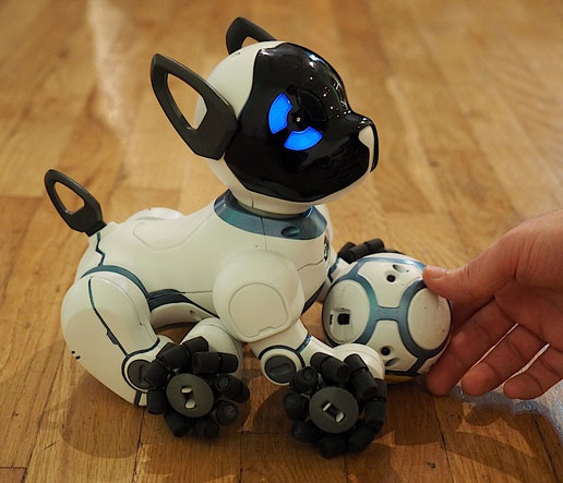 Chip smart robot puppy w wearable for location tracking