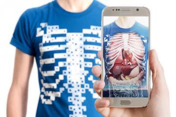 Virtuali-Tee: Augmented Reality T-shirt Teaches You Human Anatomy