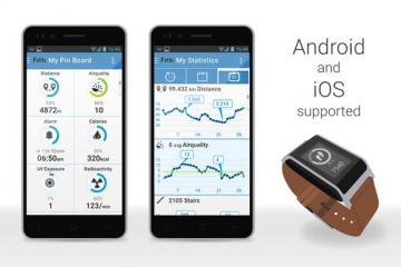 Fitti Guard: Health & Fitness Watch with Environmental Sensors