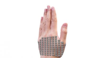 SkinHaptics: Use Your Skin As an Input Device