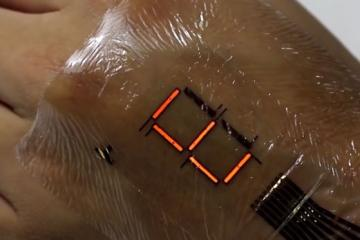 Electronic Skin: Digital Display On Your Skin