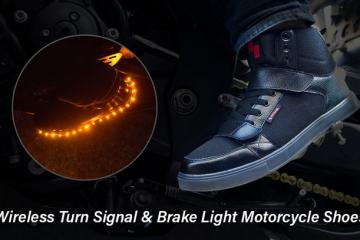 ROAME Zeros: Motorcycle Shoes with Wireless Blinker/Brake Lights