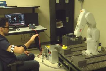 Gesture Control for ABB Robots Using Myo Armbands