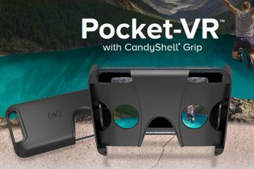 Pocket-VR with CandyShell Grip: Foldable VR Headset for Smartphones