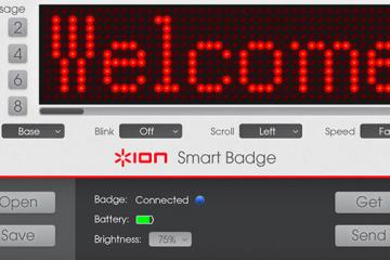 Bluetooth Smart Badge with Programmable Speed, Font