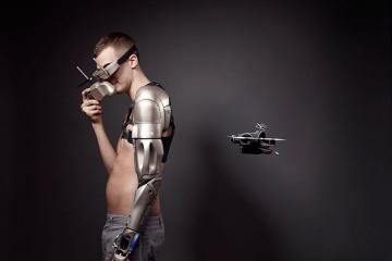 This Advanced Prosthetic Limb Has Lights, Bluetooth, a Quadcopter