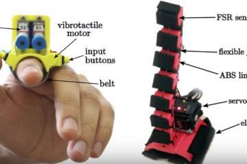 Wearable Robotic Fingers with Haptic Feedback