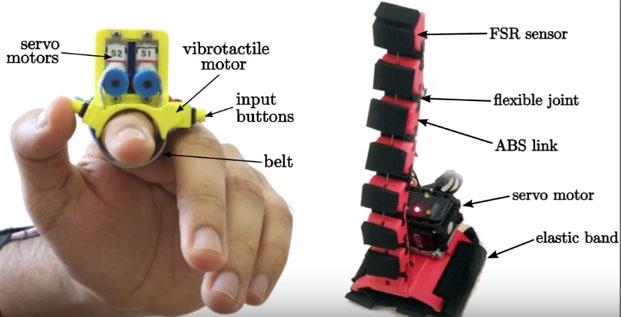 Wearable Robotic Fingers With Haptic Feedback Cool Wearable