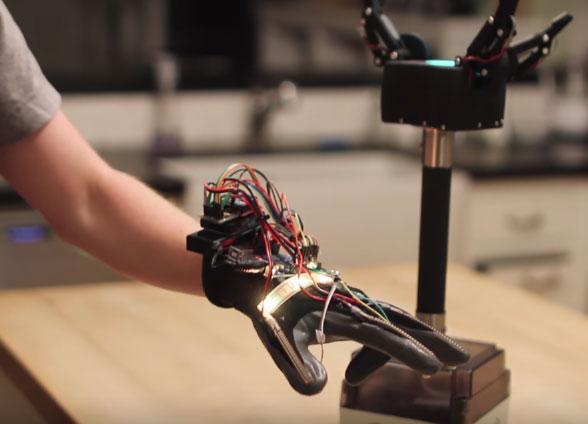 D printed arduino robotic gripper glove video cool