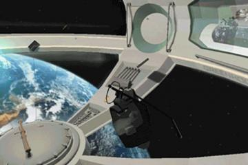 Experiencing a Weightless Environment in VR
