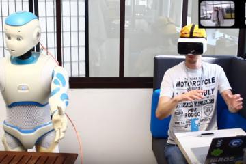 Romeo Robot Teleoperation Using VR Headset & LEAP