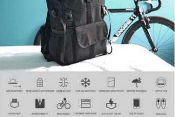 WALLY 2 Commuter Solar Backpack