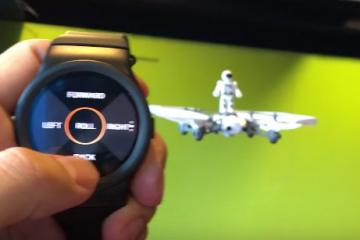 Control Drones with Blocks Smartwatch