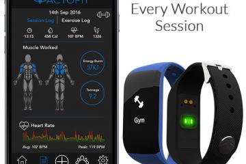 Actofit Smart Wearable Auto Tracks Exercises