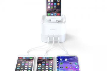 Satechi Smart Charging Stand Charges Multiple Phones, Wearables